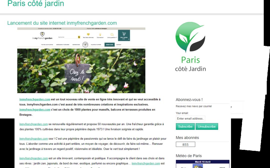 Paris côté jardin parle de nous !