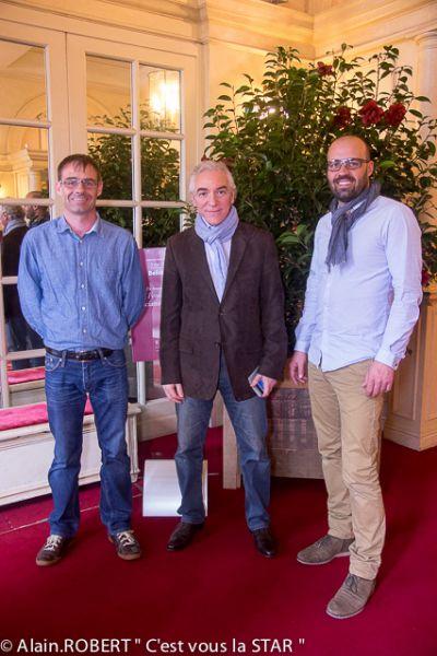 Camelia Fondation Luciano Pavarotti avec thomas et Olivier